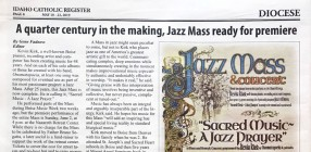 A quarter century in the making, Jazz Mass ready for premiere